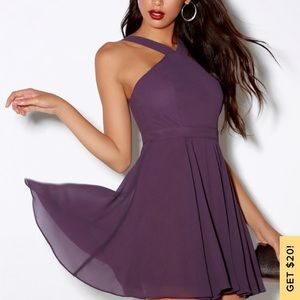 Lulus purple forever dress in purple